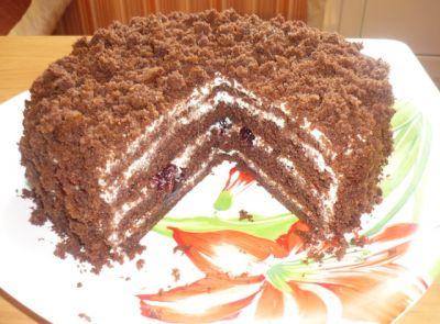 рецепт торта шоколадный сметанник