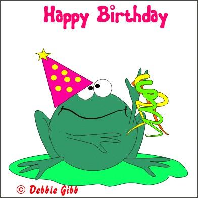 Открытка с днем рождения лягушка