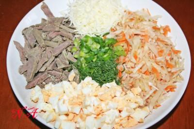 Салат с говядиной кислый