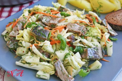 Салат селедка капуста