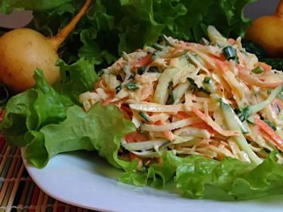 салат из репы и огурцов рецепты