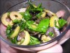 Салат из оливок, маслин, креветок