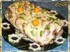 Филе судака, запеченное с овощами и сыром