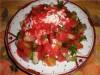 Салатик с заливочкой из клубнички с имбирьчиком