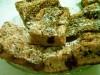 Бисквитный пирог с персиками и вишнёвым вареньем