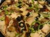 Пицца с соусом Альфредо и шпинатом