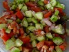 Салат помидоры огурцы с мятой