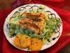 Салат «Апельсиновое счастье» с рыбой Пангасиус