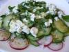 Салат с огурцами и фетой
