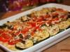 Полента с овощами и козьим сыром