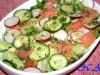Салат с лососем и редисом