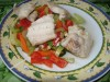 Рыба с овощами за 3 минуты