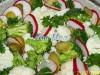 Салат с цветной капустой,брокколи и. цветная капуста брокколи редис солёные огурцы лук оливковое масло и...