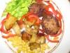 Мясные котлеты с морковью и зеленью