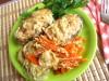 Горбуша, тушённая в сметанно-соевом соусе