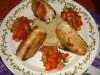 Рыбные котлеты (без хлеба) подача на кускусе