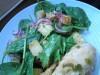 Салат из картофеля и листьев молодого шпината