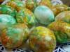 Пасхальные яйца крашеные мраморные