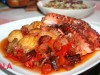Осьминог,запеченный в духoвке(португальская кухня)
