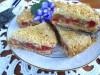 Пирог с Ревенем и Яблоками (тесто-крошка)