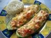Цуккини фаршированные овощами и красной рыбой