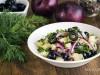 Салат  из картофеля с маслинами