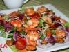 Салат с креветками,мидиями и крабовым мясом(палочками)