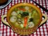 Суп с фрикадельками,рисом и брокколи