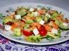 Салат с кускусом,авокадо и креветками