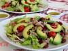 Салат с красной фасолью, тунцом и авокадо