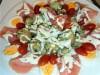 Салат деревенский с копченой семгой