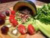Пюре из зеленого горошка с базиликом