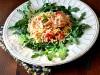 Салат с лососем, пастой Orzo и сыром фета