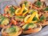 Мини-слойки с опятами и болгарским перцем