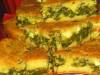 Быстрый заливной пирог со шпинатом и яйцами