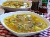 Суп рисовый с фрикадельками и грибами