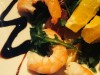Салат «Креветки и цитрусы»