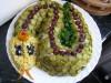 Новогодний салат «»Змейка