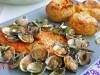 Семга под соусом из ракушек(мидий)-португальская кухня