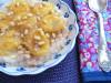 Овсяная каша с глазированными бананами и кедровыми орешками