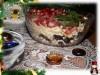 Порционный салат с гранатом «Праздничное застолье»