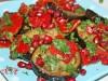 Салат-закуска из запечённых баклажанов,перца и граната