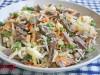 Салат с квашеной капустой и говядиной