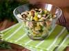 Салат с горбушей и сухариками