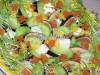 Салат с инжиром, семгой и моцареллой