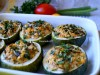 Рондини(цуккини,перцы) с курино-овощной начинкой