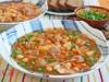 Суп с фрикадельками,нутом и капустой