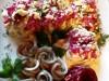 Салатик и закусочка (розочка из свеклы)
