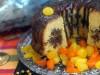 Мандариновый кекс с шоколадно-ореховой прослойкой