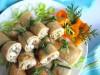 Блины  с  салатом  из  слабосолёной  сельди
